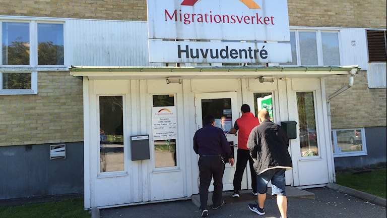 Migrationsverkets ansökningsenhet i Kållered. Foto: Peter Stenberg/SR