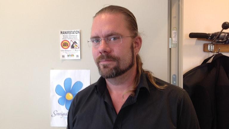 Jörgen Fogelclou, ordförande i SD:s Göteborgsdistrikt. Foto: Erica Hedin/Sveriges Radio.