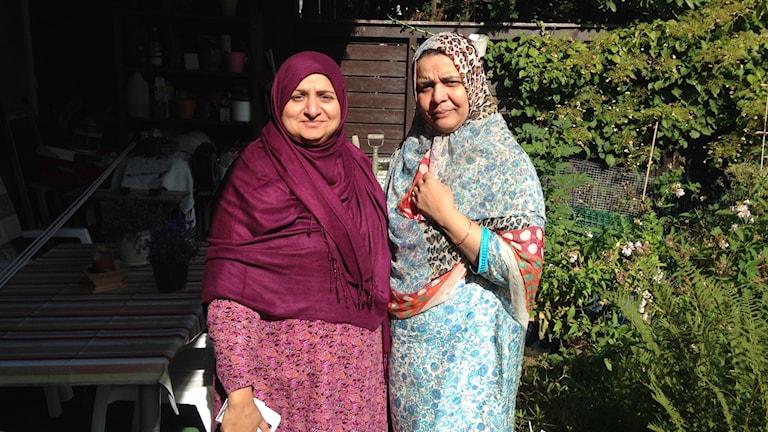 Kalsoom Kaleem och Maria Nasir.