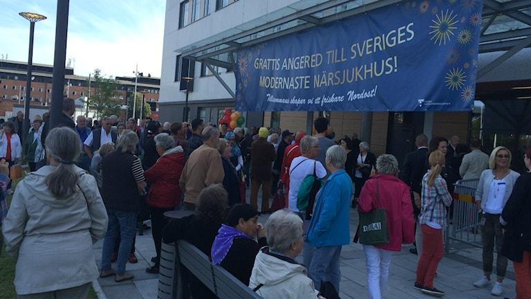 Under torsdagen invigdes Angereds Närsjukhus. Foto: Hasse Andersson/SR