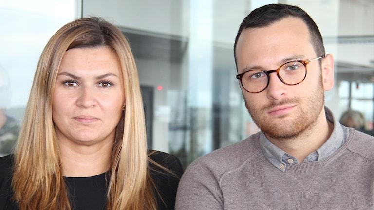 Josipa Kesic och Michael Verdiccio har gjort reportagen i P4 Göteborgs satsning #flyktvägen. Foto: Madeleine Blidberg/SR