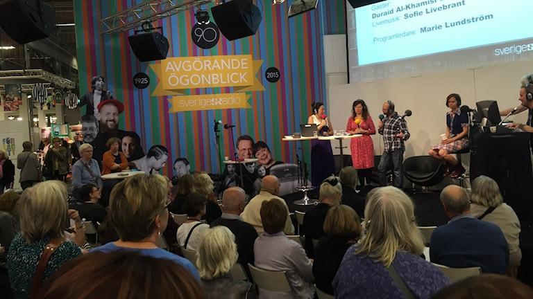 Sveriges Radio sänder många program från bokmässan. Foto: Karin Jansson/SR