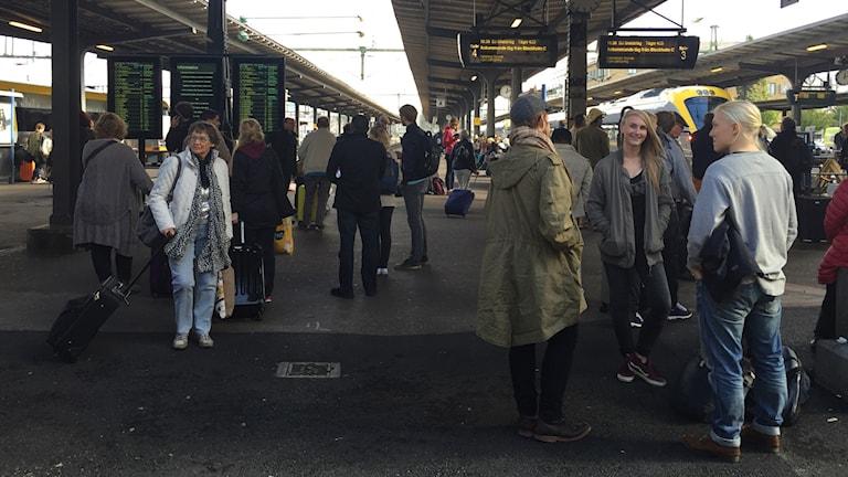 Det är fortsatta förseningar i tågtrafiken från Göteborgs central. Foto: Lina Persson/SR