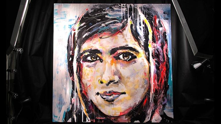 Malala målad av Linda Vagnelind.
