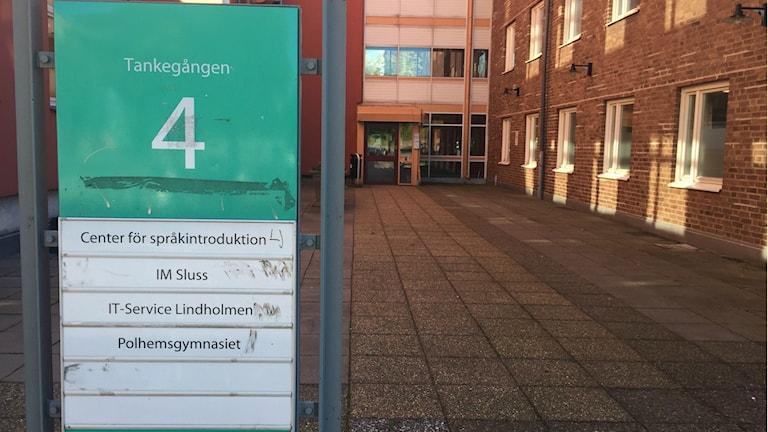 Bild på Slussen som är den verksamhet som språk- och kunskapstestar nyanlända gymnasieelever. Foto: Lina Persson/SR