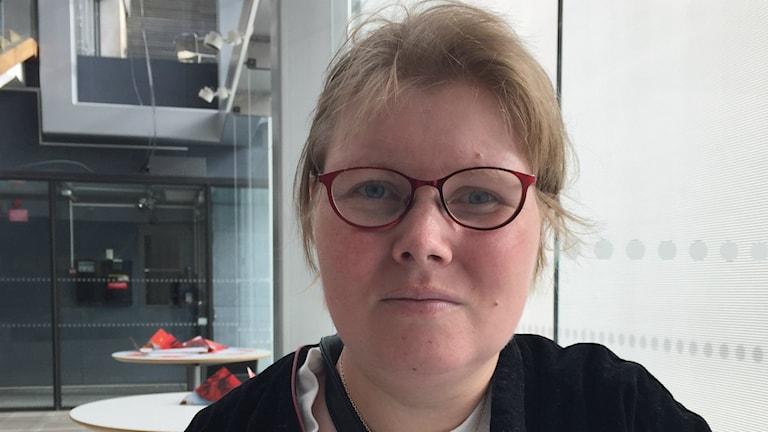 Emily Gunnarsson från Riksföreningen Grunden. Foto: Lina Persson/Sveriges Radio