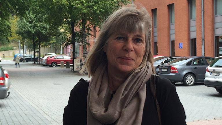 Karina Djurner, kommundirektör i Härryda. Foto: Hanna Zahr/Sveriges Radio