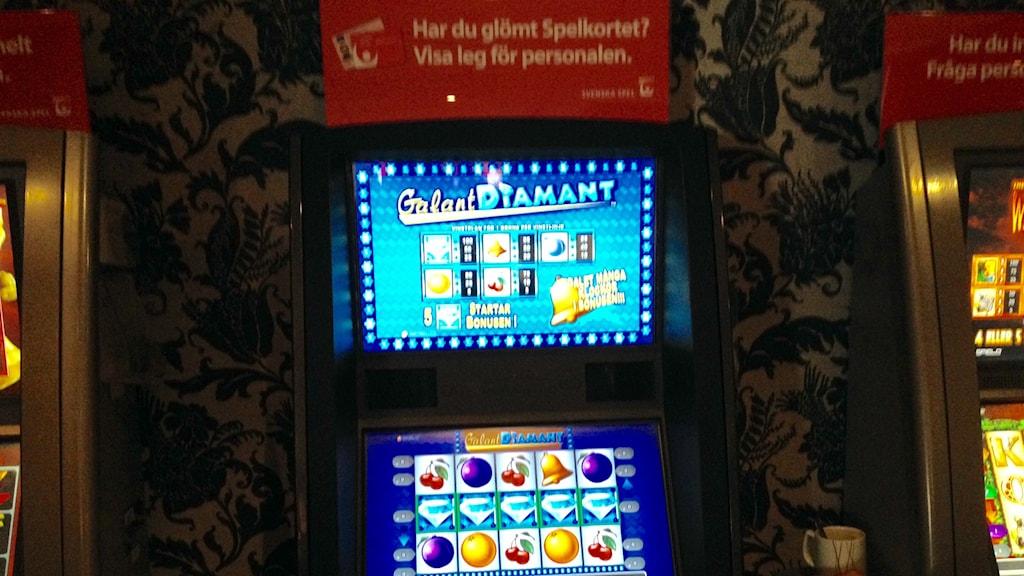 Vegas-spelet Galant Diamant. På en minut hinner en spelare med 30 tryck och kan förlora 180 kronor. Foto: Monir Loudiyi