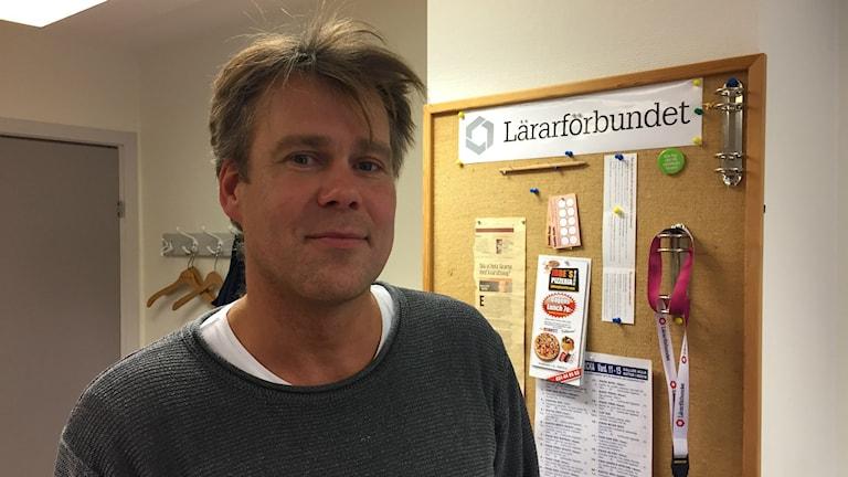 Alexander Köhn, ordförande i Lärarförbundet i Partille. Foto: Lina Persson/Sveriges Radio