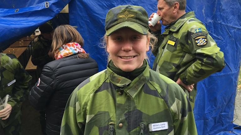 Madelen Björk är en av deltagarna på military camp