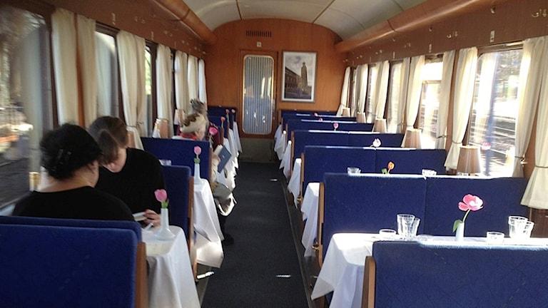 Från restaurangvagnen på Blå tåget