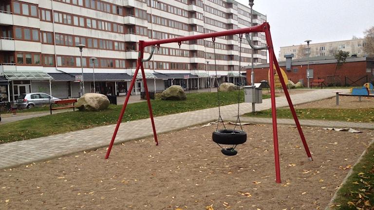 Friskväderstorget Biskopsgården. Foto: Madeleine Blidberg/SR