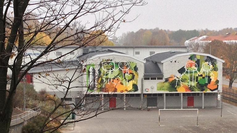 Sjumilahallen Biskopsgården Foto: Madeleine Blidberg/SR