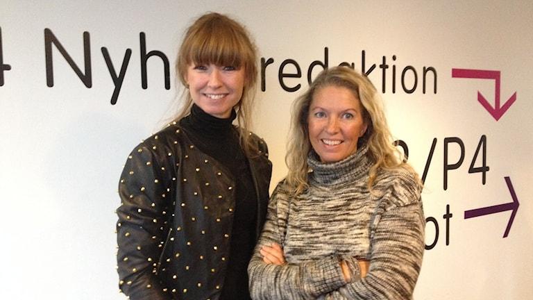 Frida  Zetterström och Eva Ossiansson Foto: Madeleine Blidberg/SR