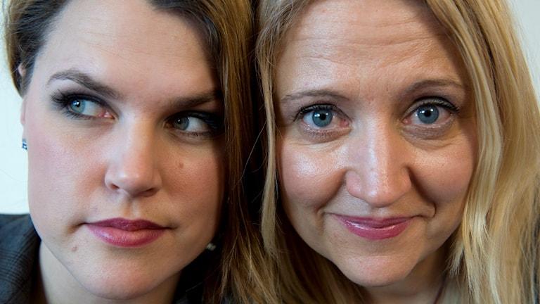 Mia Skäringer och Klara Zimmergren. Foto: Fredrik Sandberg / TT