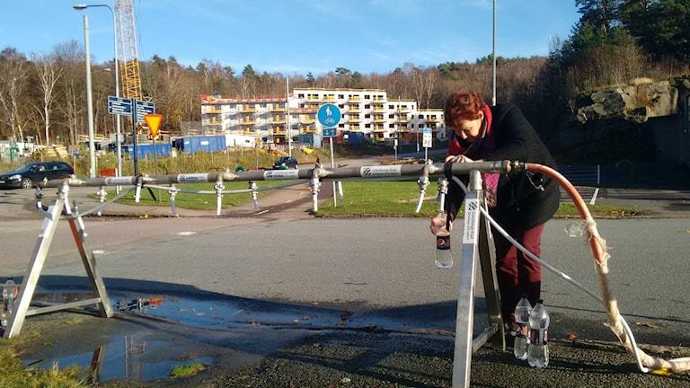 Många vattenposter är utställda vid kommungränserna. Foto: Nina Sjöman/SR