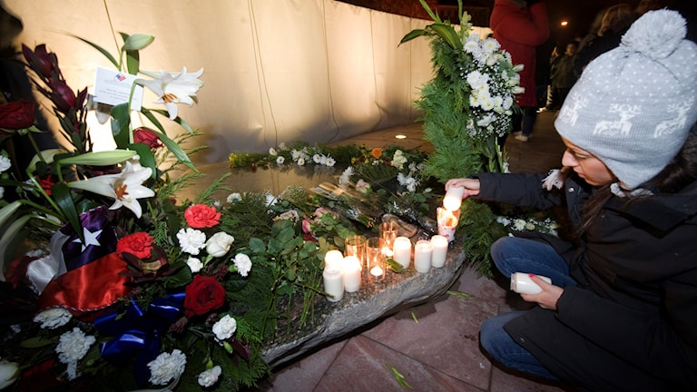 Minnesceremoni för dom 63 undgomar som omkom i branden. Foto Björn Larsson RosvallTT