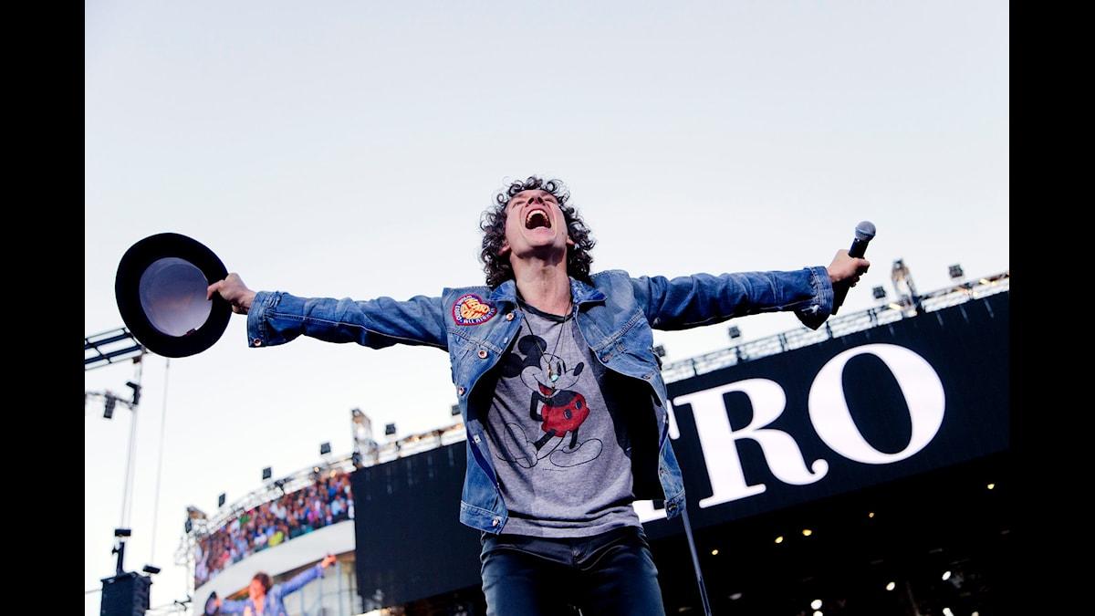 Håkan Hellström slår publikrekord på Ullevi. Foto Adam Ihlse TT