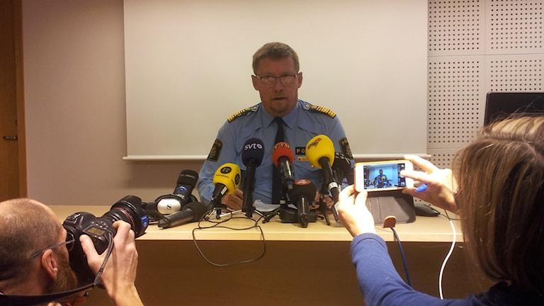 Polisens regionchef Klas Friberg. Foto: Lasse Nilsson/Sveriges Radio