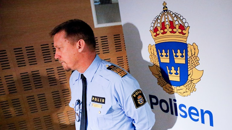 Polisens regionchef Klas Friberg. Foto Adam Ihse / TT