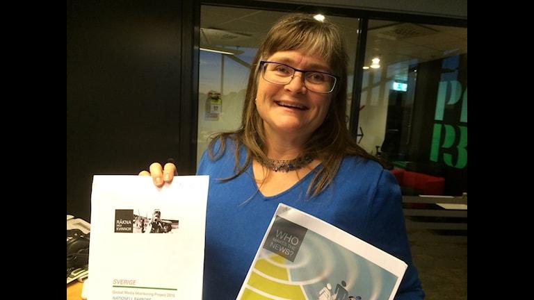 Maria Edström, forskare på JMG. Foto Ylva Nilsson/Sveriges Radio.