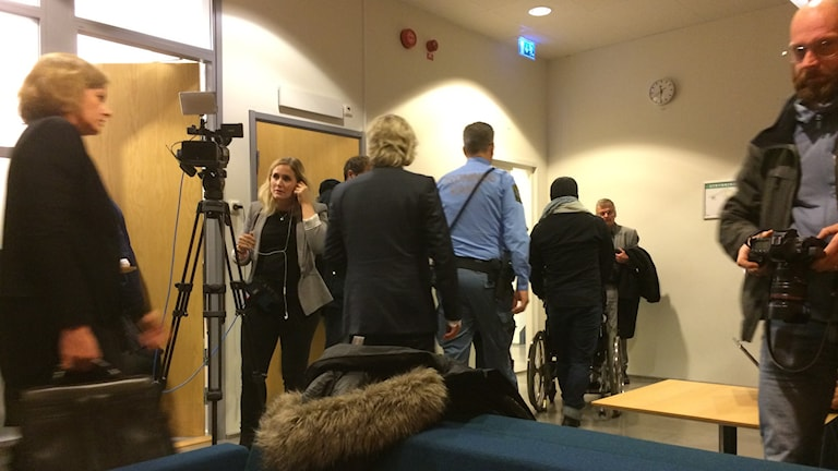 Rättegången återupptogs efter lunch. Foto: Simon Rissvik/Sveriges Radio