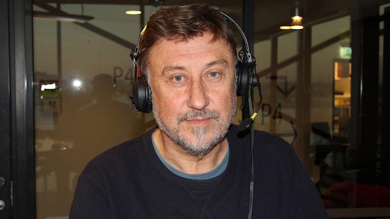 Janne Josefsson. Reporter Madeleine Blidberg/Sveriges Radio