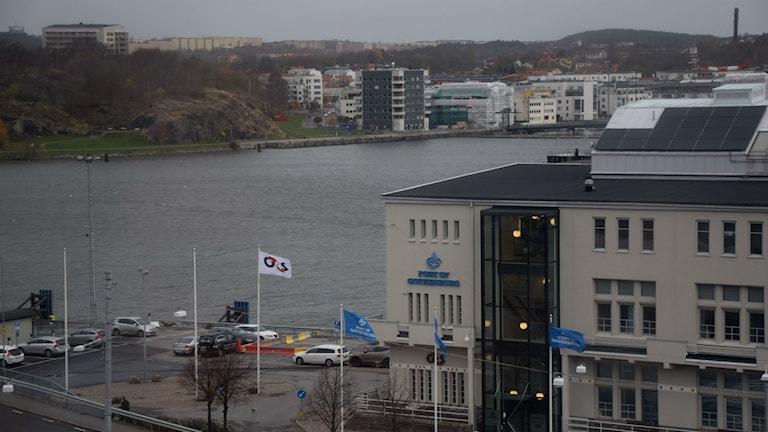 Idag kan ingen ana att denna del av Göteborgs hamn i 50 år var tilläggsplats för stadens stoltaste fartyg. Foto: Mats Carlsson-Lénart