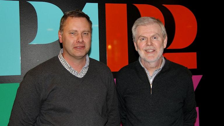 Lars Ny, forskare och läkare på Sahlgrenska, och Kent Persson. Foto: Sveriges Radio