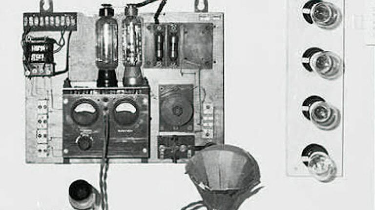 Del av försvunnen radiosändare. Foto: Telemuseet i Stockholm