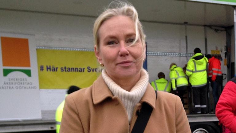 Anna Johansson S, infrastrukturminster. Foto: Björn Alm/Sveriges radio