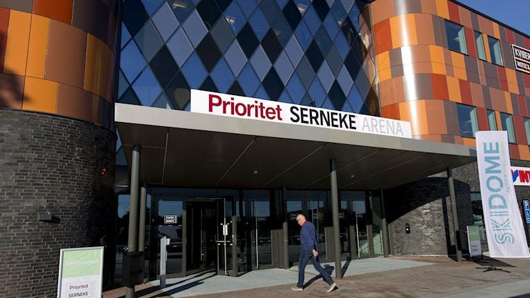 Multisportarenan i Kviberg där Sverige möter Skottland den 26 januari. Foto: Larsson Rosvall / TT Bild