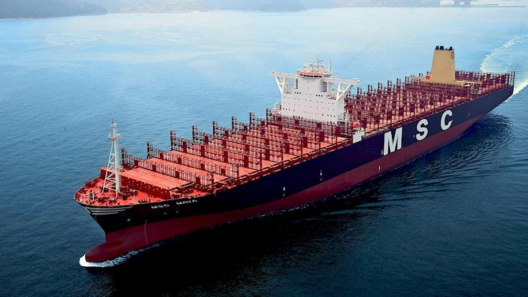 Msc Maya Världens största containerfartyg.