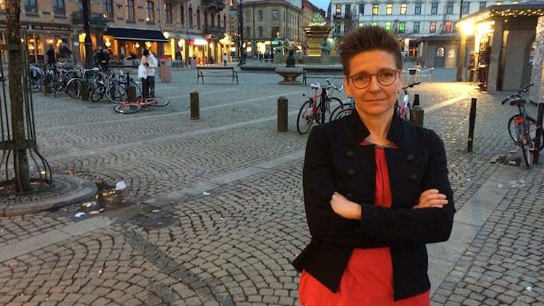 Ann-Sofi Hermansson på Järntorget.