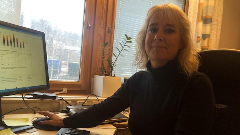 Birgitta Korpe i Mölndal säger att det är några få transitplatser som behövs i kommunen nu. Foto: Josipa Kesic/Sveriges Radio