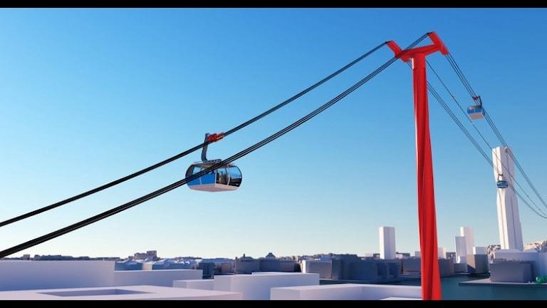 Så här kan det snart se ut över Göta Älv. Foto: Göteborg stad