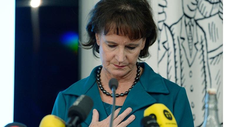 Annelie Nordström: Jag vill be medlemmarna om ursäkt! Foto: JESSICA GOW/TT