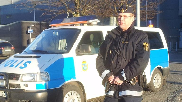 Trafikpolis Peter Turesson i Göteborg.