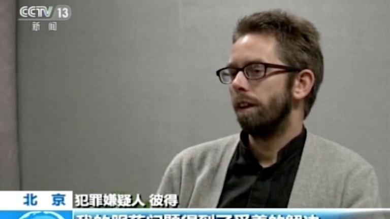 Peter Dahlin i kinesisk tv.