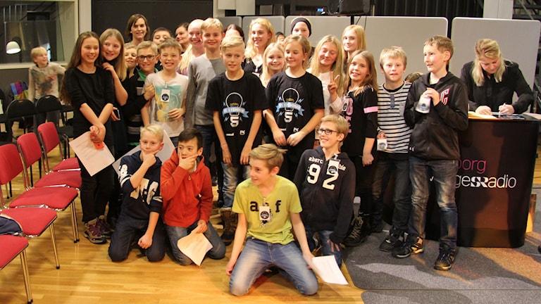 Glada segrare från klass 5 E Skutehagen.