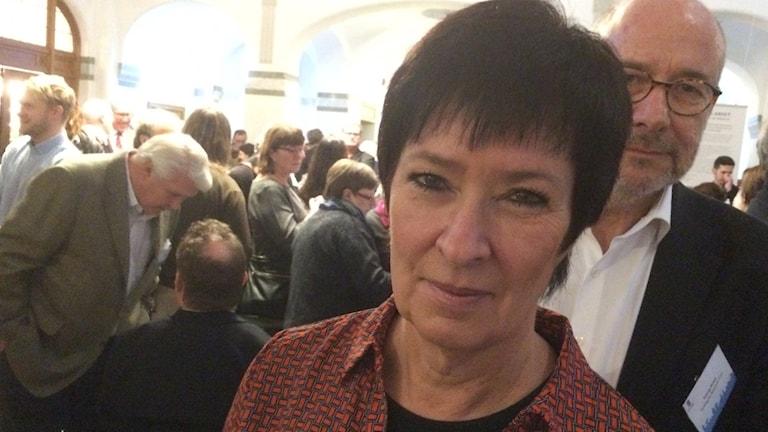 Mona Sahlin på Göteborgs universitet 27 januari 2016. Foto: Peter Stenberg/SR