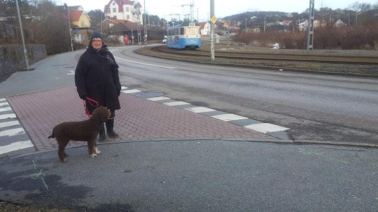 Ävsborgsbon Eva Brax. Foto: Lasse Nilsson / Sveriges radio