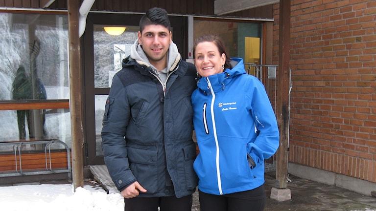 Cecilia Hansson och Hussein Mahmoud från projektet Unga Fixare