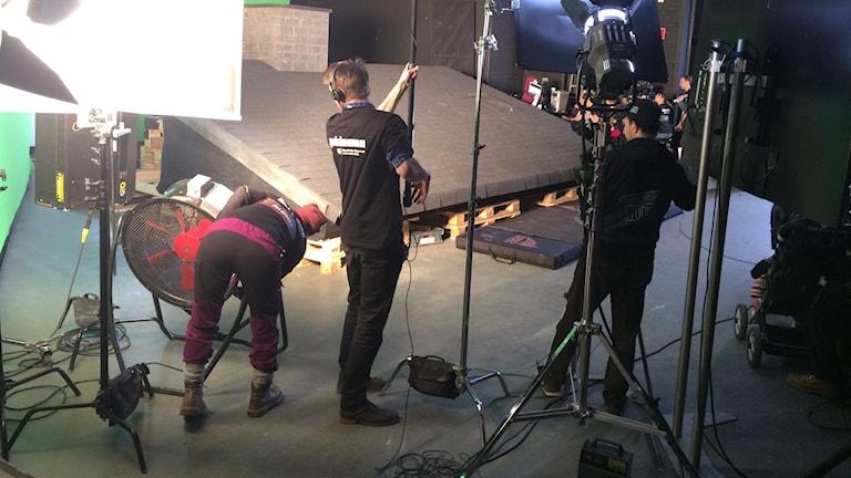 Filminspelning inför publik under Gokinema foto:Hasse Andersson