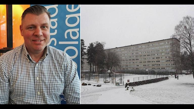 Rafael Lavicki, förvaltare Bostadsbolaget. Foto: Anders Hagström/Sveriges Radio.