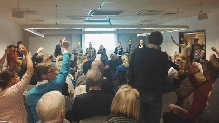 Många hade frågor när de tillfälliga bostäderna som planeras i Västra Göteborg presenterades.