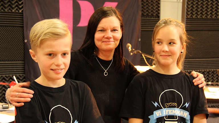 Ebba Sterner, Harry Olsson och Monika Fransson lärare för Skutehagen 5A..