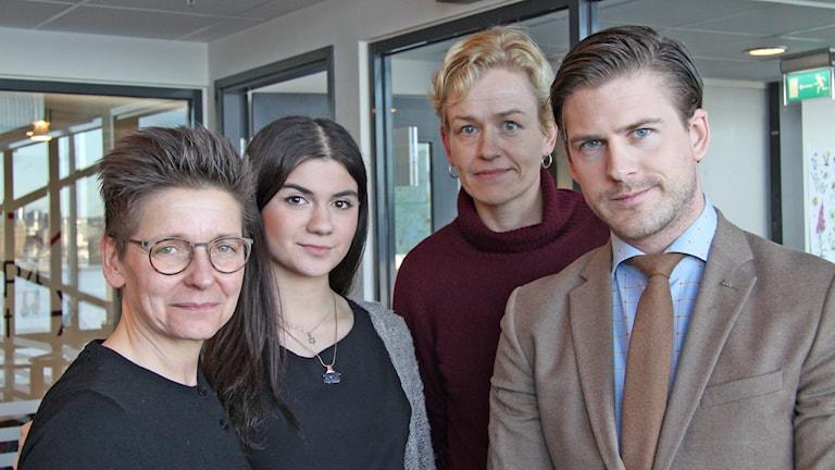 Ann-Sofie Hermansson, Lara Levin, Truike Thien,  Hampus Magnusson