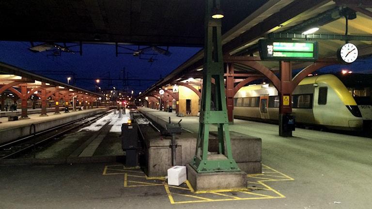 Många spår gapade tomma i Göteborg på måndagmorgonen. Foto: Susanne Ehlin /P4 Göteborg