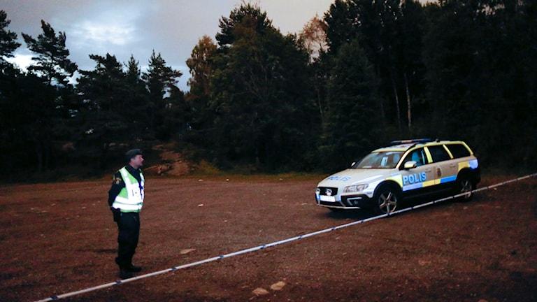 Mannen hittades vid Sisjöns badplats. Foto: Adam Ihse/TT